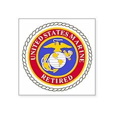 "USMCRetiredSealBonnieBlueAn Square Sticker 3"" x 3"""