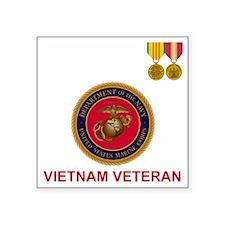"""USMCVietnamVeteranTeeshirt. Square Sticker 3"""" x 3"""""""