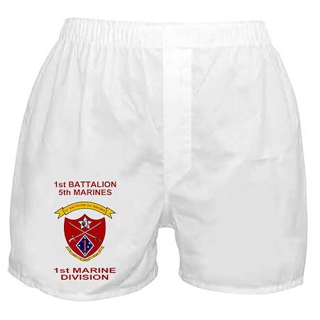USMC1stBn5thMarinesShirtBack.gif Boxer Shorts
