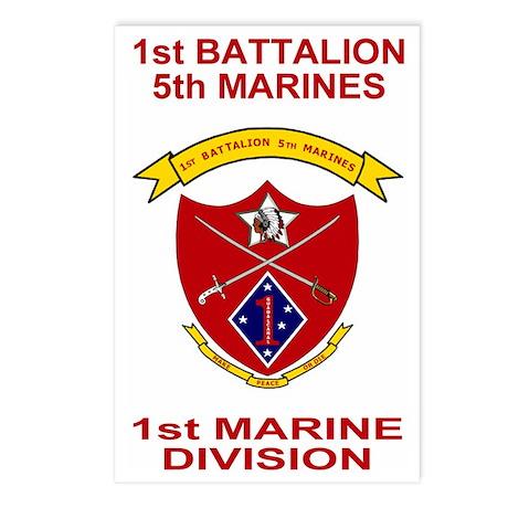 USMC1stBn5thMarinesShirtB Postcards (Package of 8)