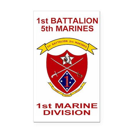 USMC1stBn5thMarinesShirtBack. Rectangle Car Magnet