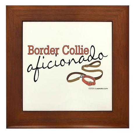 Border Collie Aficionado Framed Tile