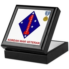 USMC1stMarineDivisionKoreanWarVeteran Keepsake Box