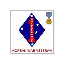 """USMC1stMarineDivisionKorean Square Sticker 3"""" x 3"""""""