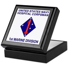 USMC1stMarineDivisionNavyCorpsman.gif Keepsake Box