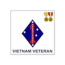 "USMC1stMarineDivisionVietna Square Sticker 3"" x 3"""