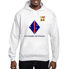 USMC1stMarineDivisionVietnamVete Hoodie