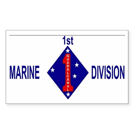 USMC1stMarineDivisionCap.gif Sticker (Rectangle)