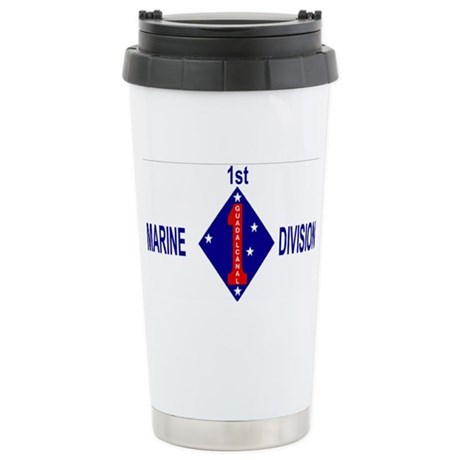 USMC1stMarineDivisionCap.gif Stainless Steel Trave