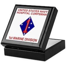USMC1stMarineDivisionNavyCorpsman2.gi Keepsake Box