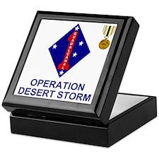 USMC1stMarineDivisionOperationDesertS Keepsake Box