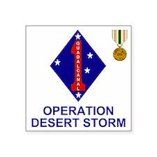 """USMC1stMarineDivisionOperat Square Sticker 3"""" x 3"""""""