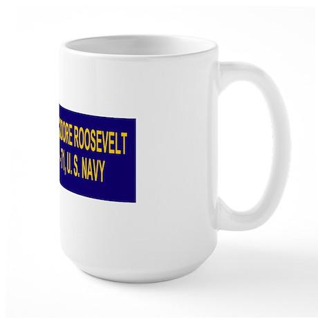 USSTheodoreRooseveltBumpersticker.gif Large Mug