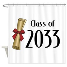 Class of 2033 Diploma Shower Curtain