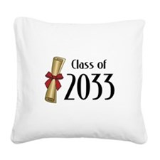 Class of 2033 Diploma Square Canvas Pillow