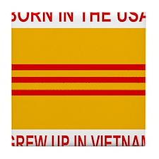 VietnamWarBornInTheUSA.gif Tile Coaster