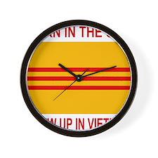 VietnamWarBornInTheUSA.gif Wall Clock