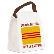 VietnamWarBornInTheUSA.gif Canvas Lunch Bag
