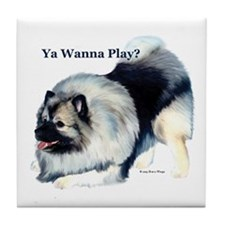 """Wanna Play? (Kees)"" Tile Coaster"