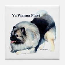 """Wanna Play? (Kees)"" Tile Coaster"