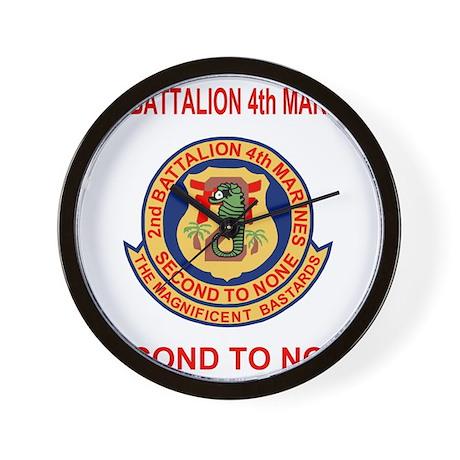 USMC2ndBn4thMarinesTeeshirtRed.gif Wall Clock