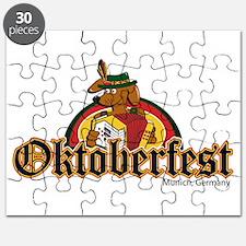 Oktoberfest Dachshund and Accordian Puzzle