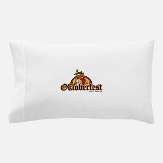 Oktoberfest Dachshund and Accordian Pillow Case