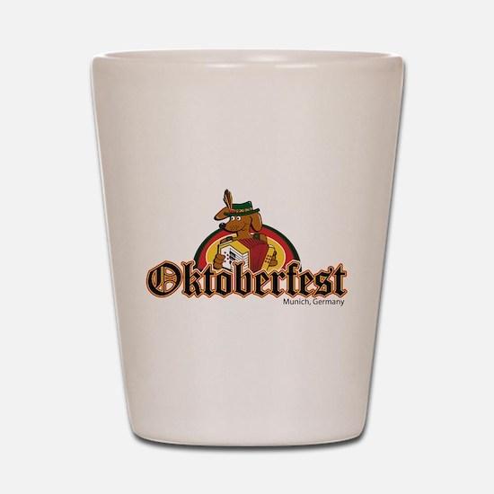 Oktoberfest Dachshund and Accordian Shot Glass