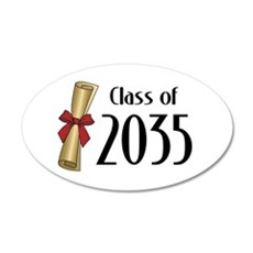 Class of 2035 Diploma Wall Decal