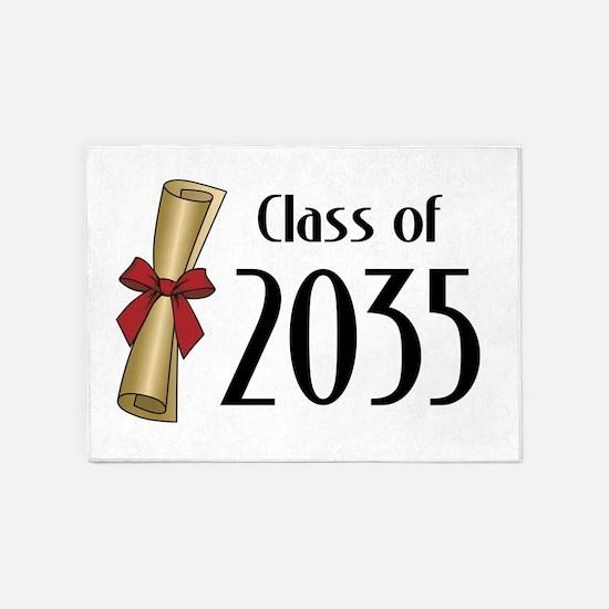 Class of 2035 Diploma 5'x7'Area Rug