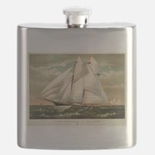 Yacht Norseman of New York - 1882 Flask