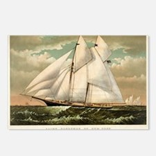 Yacht Norseman of New York - 1882 Postcards (Packa