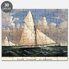 Yacht Puritan of Boston - 1885 Puzzle