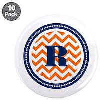 """Orange & Navy 3.5"""" Button (10 pack)"""