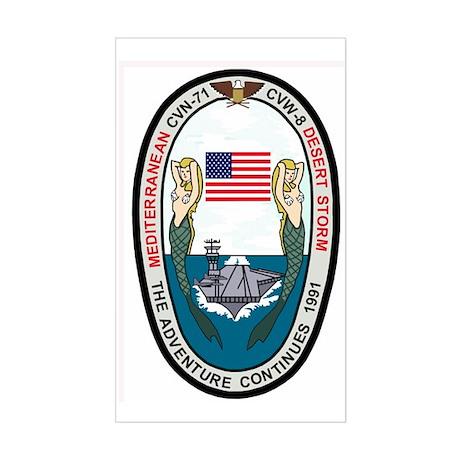 USSTheodoreRooseveltDesertStor Sticker (Rectangle)