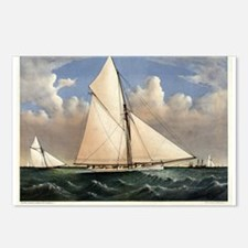 Yacht Puritan of Boston - 1885 Postcards (Package