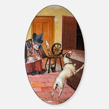 The Cupboard Was Bare, Old Mother H Sticker (Oval)