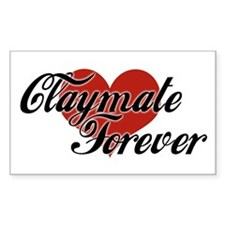 Claymate Forever Rectangular Decal