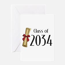 Class of 2034 Diploma Greeting Card