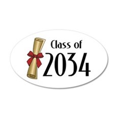 Class of 2034 Diploma Wall Decal
