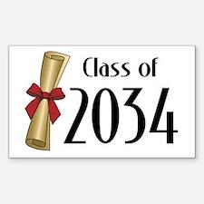 Class of 2034 Diploma Decal