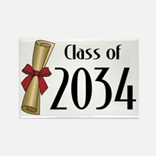 Class of 2034 Diploma Rectangle Magnet (10 pack)