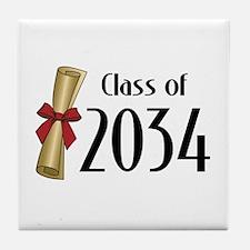 Class of 2034 Diploma Tile Coaster