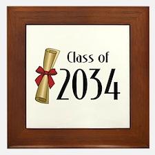 Class of 2034 Diploma Framed Tile