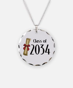 Class of 2034 Diploma Necklace