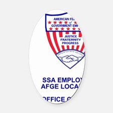 AFGELocal3129OfficeContact.gif Oval Car Magnet