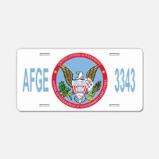 AFGE-Local3343BlueCap2.gif Aluminum License Plate