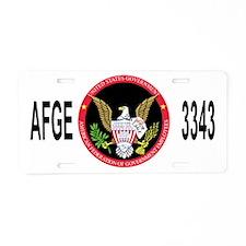 AFGE-Local3343BlackCap2.gif Aluminum License Plate