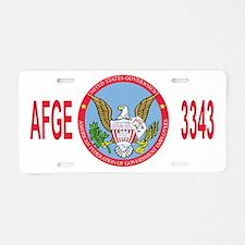 AFGE-Local3343Cap2.gif Aluminum License Plate
