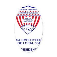 AFGE-Local3343PocketCrestPresident Oval Car Magnet